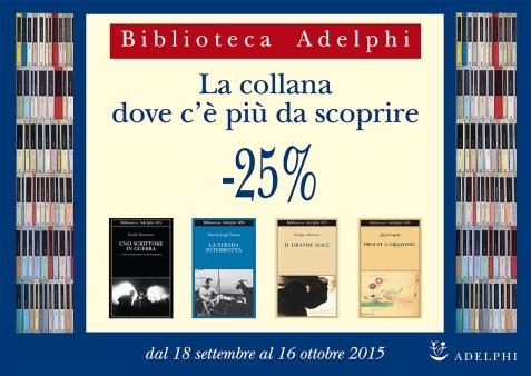 NUOVA PROMOZIONE BIBLIOTECA ADELPHI 2015